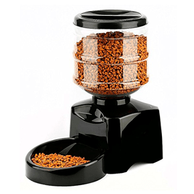 Comedero dispensador de pienso automático para gatos