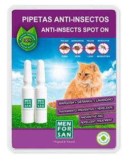 Pipetas antipulgas para gatos