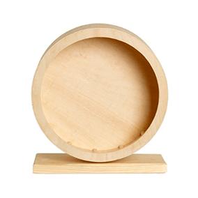 Rueda de madera para hámster sirio joven de 20 cm