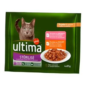 Sobres de comida húmeda para gatos Ultima